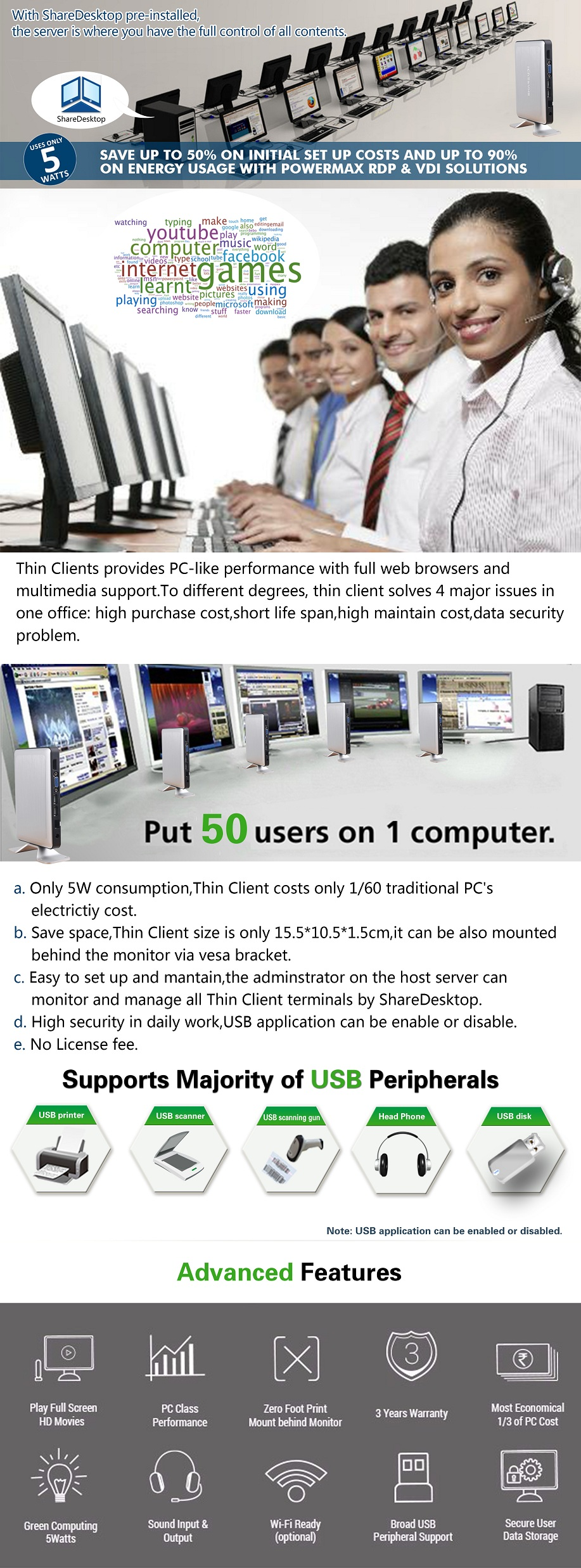 Thin Client,Windows Thin Client,MultiPoint Sever,Fanless Cloud Computer